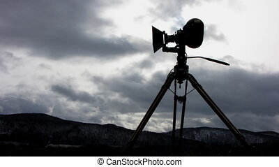 Film-chamber 4 - Time lapse of running clouds with...