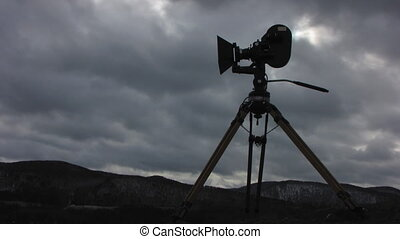 Film-chamber 6 - Time lapse of running clouds with...