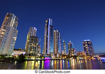 After sunset - Surfers Paradise, Gold Coast Australia