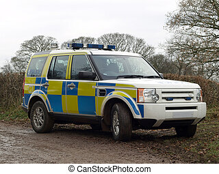 A Police 4x4 - A Police off road vehicle used for rural...