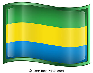 Gabon Flag icon.