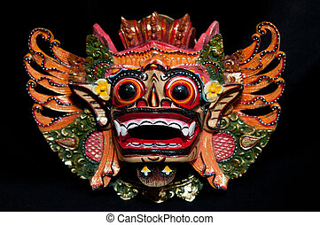 Traditional Balinese Mask - Traditional Balinese mask on a...