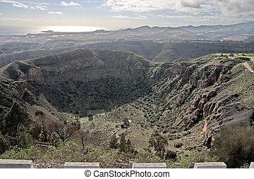 The Bandama crater on Gran Canaria - View at the Bandama...