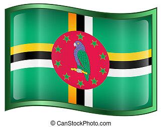 Dominica flag icon.