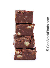Fudge - fudge on white background