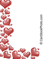 Red Heart Background - Red hearts on a white background,...