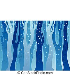 Winter forest with snow - vector illustration.