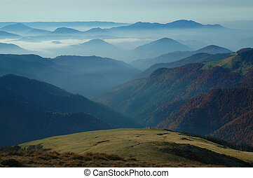 Beautiful mountain view in Rodnei mountains, Romania