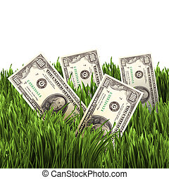 vegetation of dollar bills - The vegetation of dollar bills...