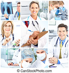 Doctors - Medical doctors working in the office