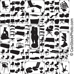 Modern Furniture And Objects Hundred Vector