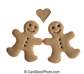 Gingerbread cookies in love - Homemade Gingerbread man...