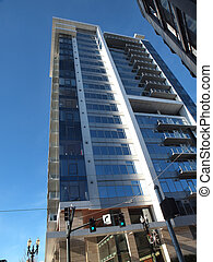 A high rise condominium. - A high rise condominium in the...