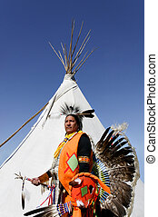 American Indian and Tee Pee