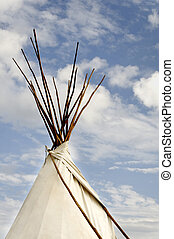 Tee Pee and Clouds - A native american indian tee pee...