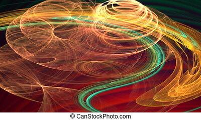 green and orange spirals motion background d4235