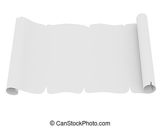 Blank sheet of paper with uneven edges