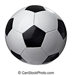 soccer ball football game sport equipment - close up of a...