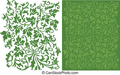 Ivy Filigree Pattern - An intricate, leafy pattern that...