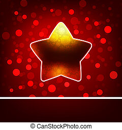 Christmas star on Gold background. EPS 8