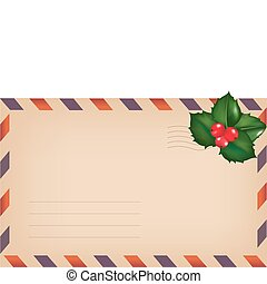Envelope With Holly Berry
