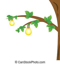 bulbs on tree