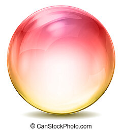 colorful crystal ball - illustration of colorful crystal...