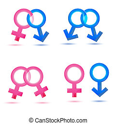 sex icons - illustration of sex icons on white background