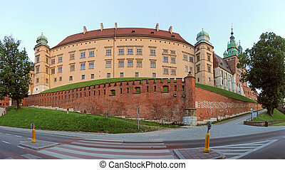 castle of Crakow - Wawel - Royal castle of Krakow, Poland...