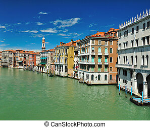 View from Bridge Ponte di Rialto in Venice - View from...