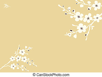 Vector Square Floral Background