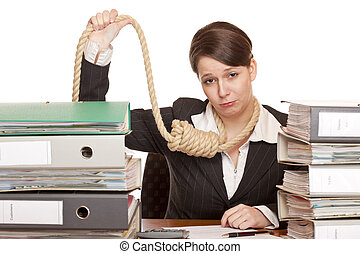 Office Woman with sling around head