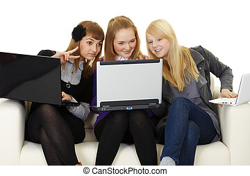 Girls communicate on Internet with foreigners - Girls...