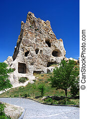 Kizlar Monastery in Goreme, Cappadocia, Turkey - The most...