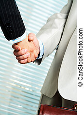 Handshaking - Photo of handshake of business partners after...