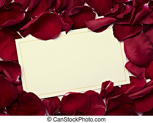greeting card note rose petals celebration christmas love