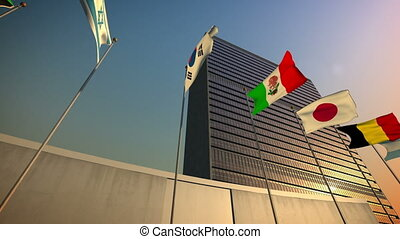 United Nations Building - 1080p stock video the Nations...
