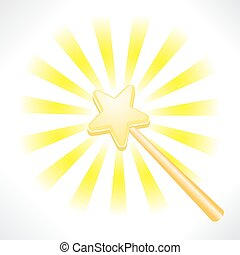 magical fairy star wand - an illustration of a magical fairy...