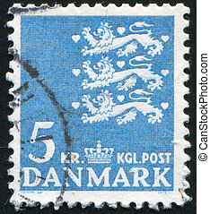 stamp - DENMARK - CIRCA 1946: stamp printed by Denmark,...