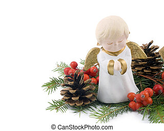 Little ceramic angel - Christmas decoration - Little ceramic...