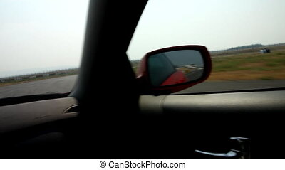 View from race car on motion