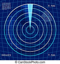 digital radar - illustration of abstract target board