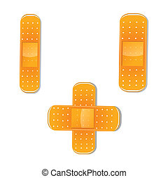 bandage - illustration of bandage on white background