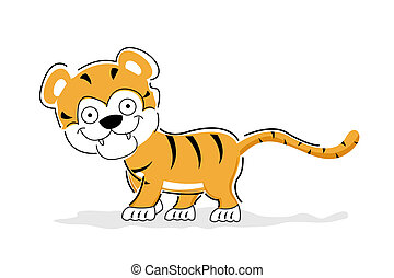cheerful tiger