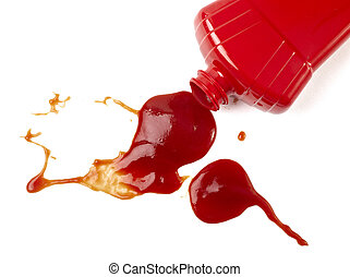 ketchup stain dirty seasoning condiment food - close up of...