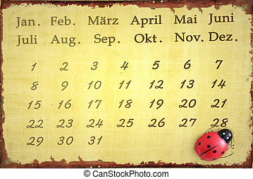 calender - Ladybug calendar for years