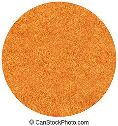 Fabric, orange mohair