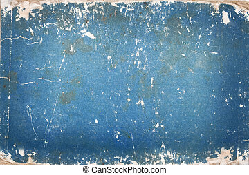 Blue cardboard with age marks - Texture, grunge, blue...