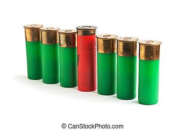 ammunition for hunting rifles isolated on a white background