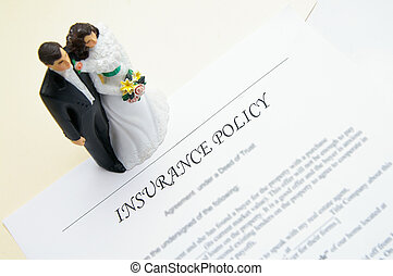 wedding couple and insurance plan